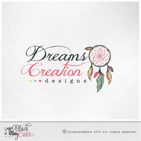 logo design for dreams dream catcher logo design whimsical feathers eps file