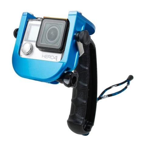 Tmc Upgraded For Gopro 4 tmc p4 trigger handheld grip cnc metal stick monopod mount for gopro hero4 3 blue alex nld