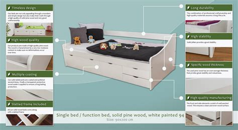 Indolinen Bed Protector 90x200 Putih 90x200 gallery of home beds x beds x with 90x200 cool ticaa stapelliege mit rollroste kiefer