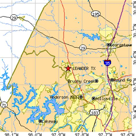 leander texas map leander texas tx population data races housing economy