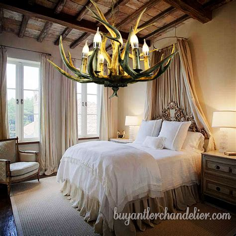 antler chandelier 6 cast candle style rustic lighting