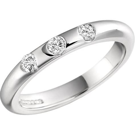Eheringe Gold Mit 3 Diamanten ehering mit diamanten fuer dame in 18kt weissgold mit 3