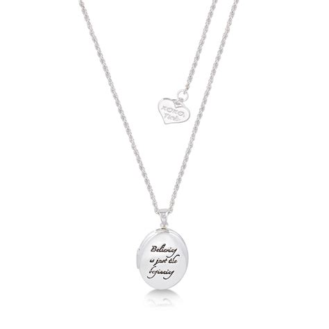 Tinker Bell Believing Is Just The Beginning Bead disney white gold plated tinkerbell quot believing is just the beginning quot locket necklace at couture