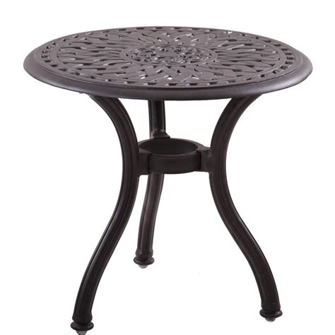 60 Patio Table Darlee Series 60 Cast Aluminum Patio End Table Mocha Bbq Guys