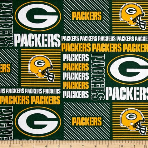 green bay upholstery nfl cotton broadcloth greenbay packers patchwork green
