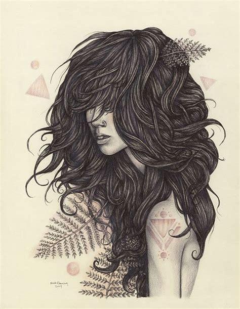 tumblr girl hair drawing voce mudou minha historia de vida
