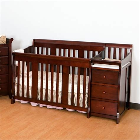 Baby Cribs Combo 4 In1 Crib Changer Combo In Cherry 04586 474