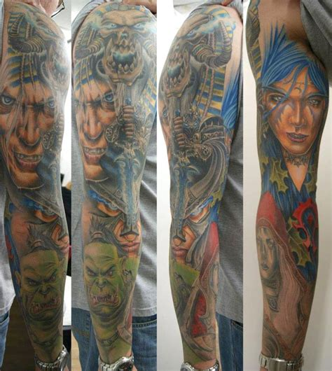 world of warcraft tattoo world of warcraft full sleeve