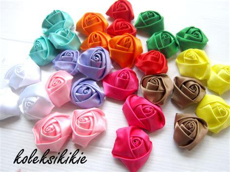 Kain Bulu Mawar kreasi aplikasi bunga mawar koleksikikie