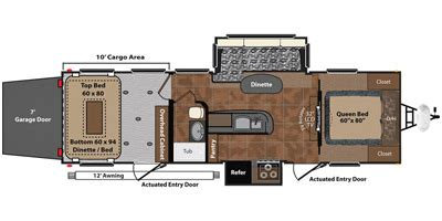 keystone fuzion floor plans 2013 keystone rv fuzion 301 floorplan prices values