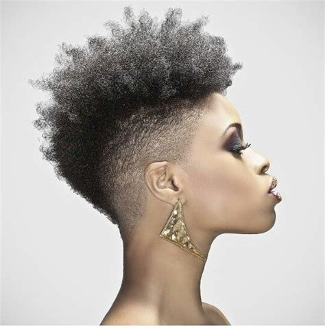 afro shaved sides 40 mohawk hairstyles for black omen