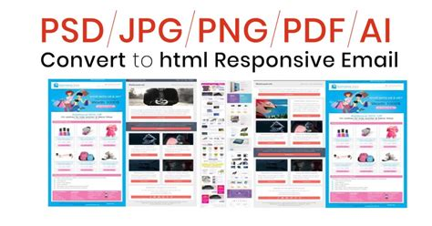 convert html to email template i will convert your psd to responsive email template