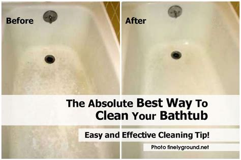 the absolute best way to clean your bathtub