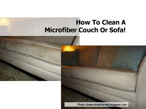how to clean a microfiber or sofa