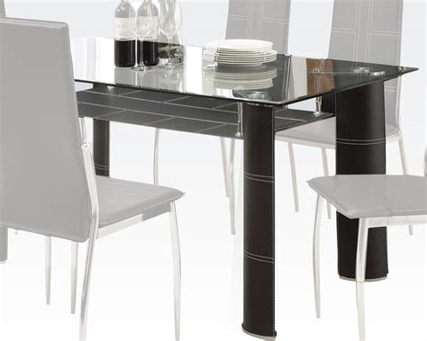 modern style dining table modern style dining table riggan by acme furniture ac70200a