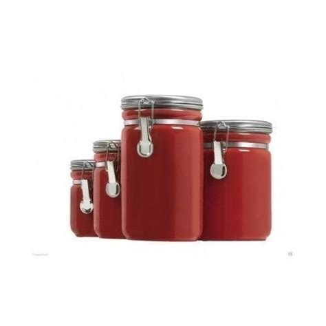 ceramic canister set 4 kitchen counter cooking flour
