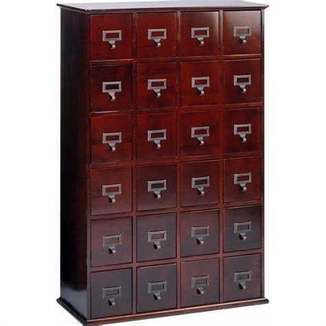 leslie dame 24 drawer cd media storage cabinet cherry ebay