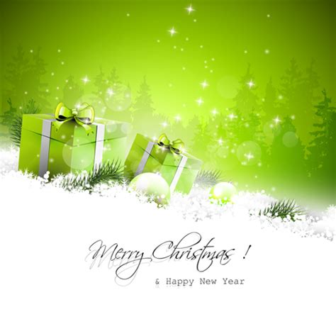 new year green green style and new year vector background 01