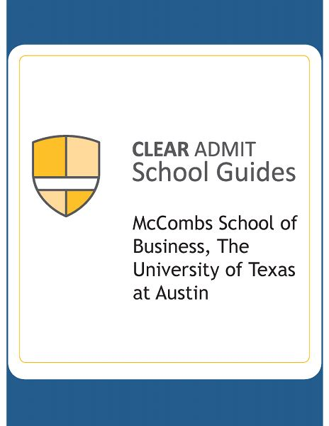 Of Mccombs Mba Deadlines by School Guide Mccombs School Of Business