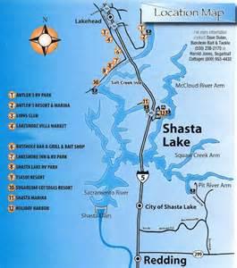 lakehead trout derby location map shasta lake california