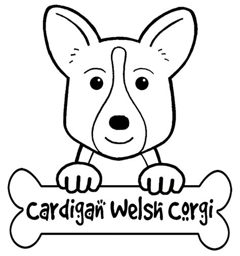 the gallery for gt corgi coloring pages