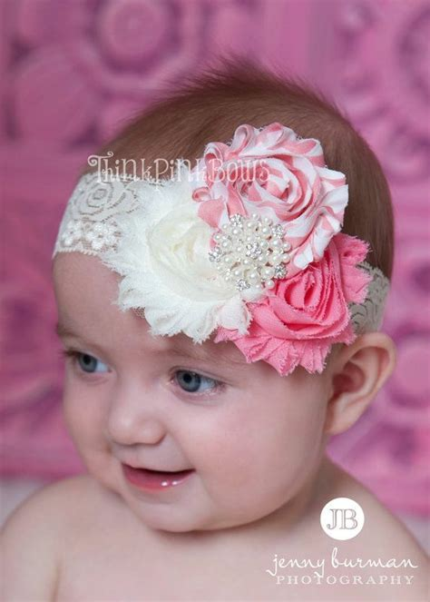 newborn baby headband bows lace flower children baby headband newborn headband baby trio headband shabby