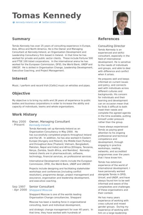 Consulting Resume Buzzwords Experienced Management Consultant Resume
