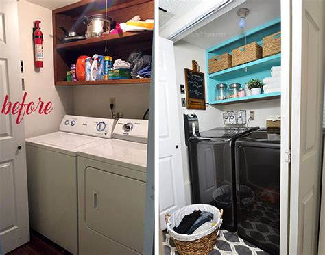 small laundry hers small space laundry makeover from drab to fab tidymom 174