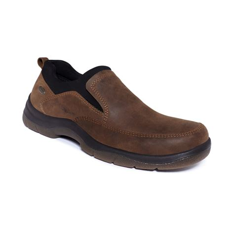 what is a hush puppy made of hush puppies 174 energy waterproof loafers in brown for lyst