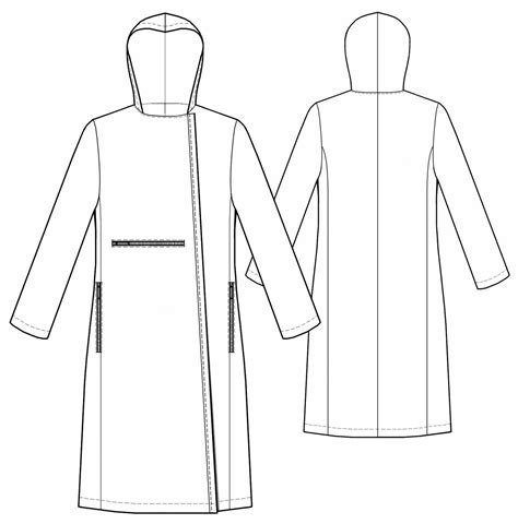 free sewing pattern lab coat coat with asymmetrical closure sewing pattern 5477