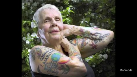 old person with tattoos tattooed you ll look like this in the future