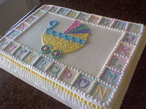 Baby Shower Sheet Cakes by Baby Shower Cakes Baby Shower Cake Ideas Stroller