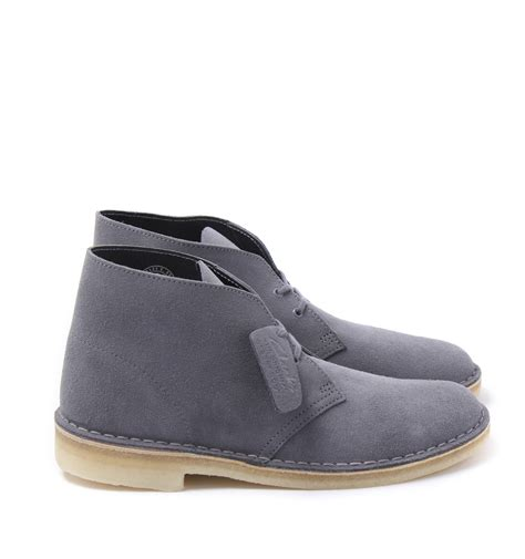 clarks originals blue grey suede desert boots