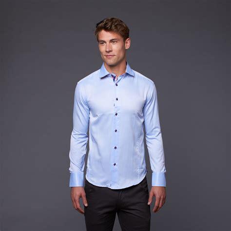 light blue button up button up shirt light blue red s bespoke touch