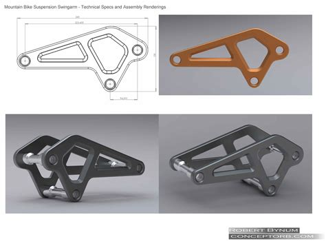 swing arm suspension design mountain bike suspension swing arm by robert bynum at