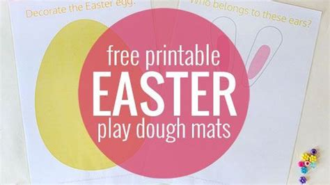 easter skits easter play dough mats free printable activities