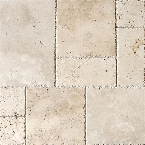 ivory unfilled chiselled travertine patterns versailles