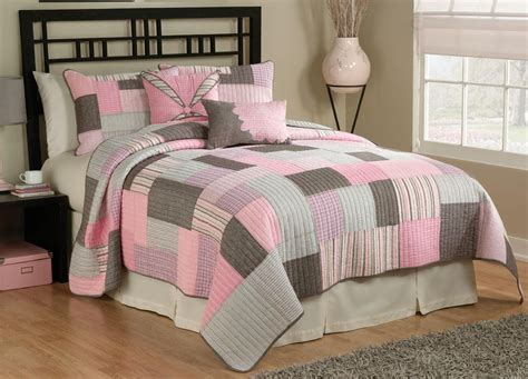 pink and brown bedding pink brown white plaid quilt comforter bedding ebay