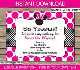 minnie mouse birthday template minnie mouse invitations template birthday