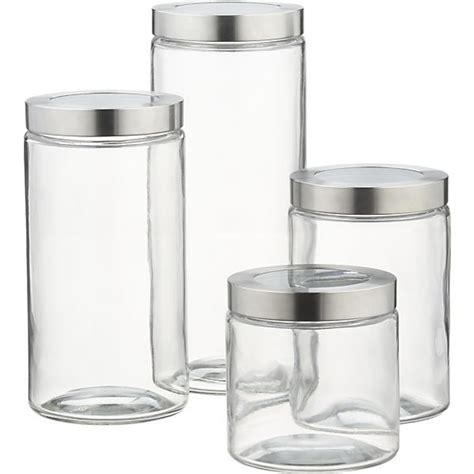 glass storage canisters with stainless steel lids in 2018