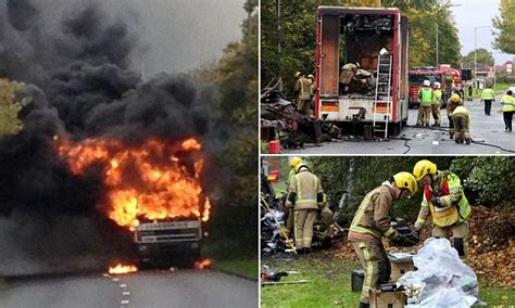 Shocking moment family's possessions went up in flames