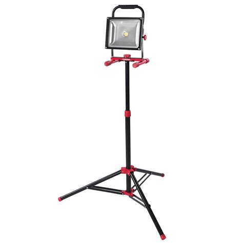 portable halogen work light stand husky 5 ft 3500 lumens led work light with tripod k40050