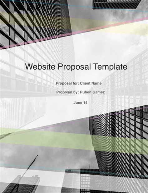 proposal cover sheet design ultimate web design proposal template free download