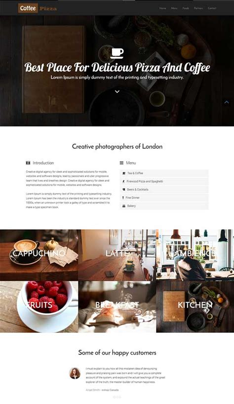 bootstrap themes restaurant free download 30 bootstrap website templates free download