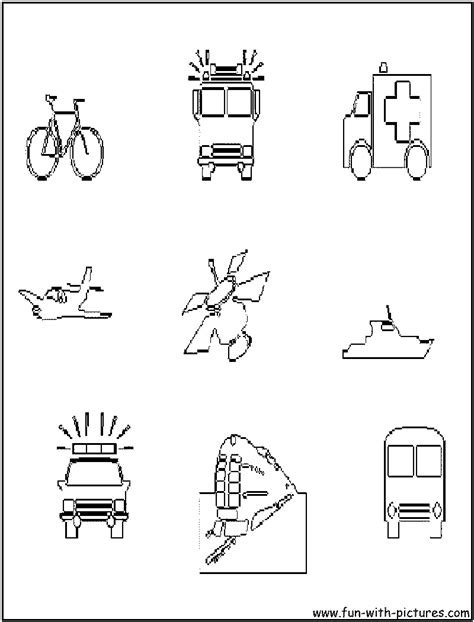 Vehicle Coloring Pages Free Emergency Vehicles Coloring Pages