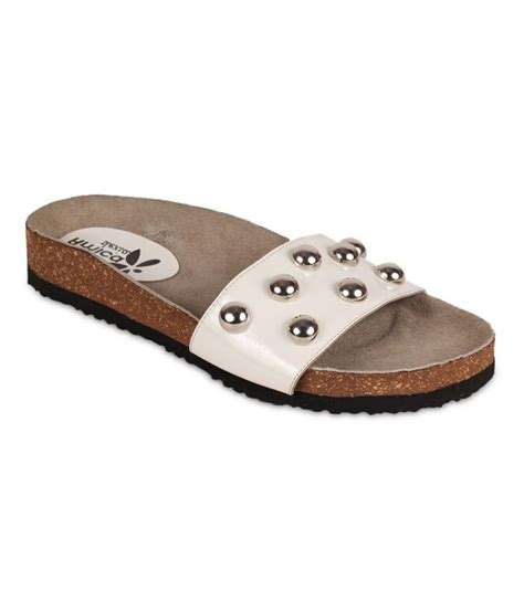 Sandals Without Toe by Amica Slexia White Open Toe Without Back Sandals Buy S Sandals Best Price