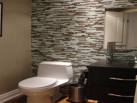 powder room accent wall ideas tile accent wall in bathroom more powder room ideas