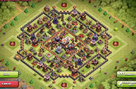 update layout in eagle th11 base layout terbaik coc 2016 selalutekno