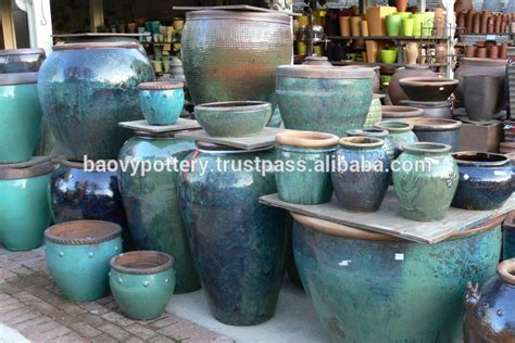 viet nam glazed pots round big rustic glazed pots buy