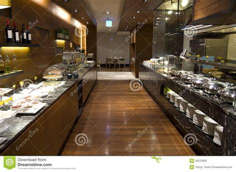 breakfast buffet restaurant food in a hotel stock photo